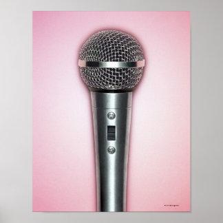 Micrófono del cromo impresiones