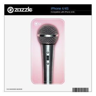 Micrófono del cromo skins para eliPhone 4S