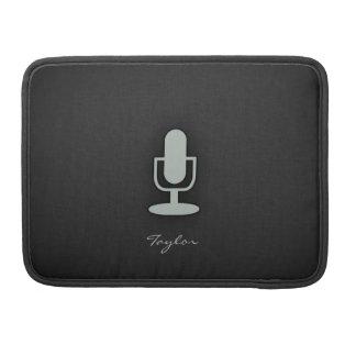 Micrófono del gris de ceniza fundas macbook pro