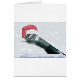 Micrófono del navidad tarjeta
