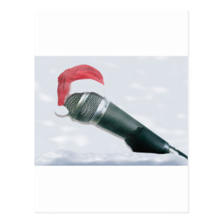 Micrófono del navidad tarjetas postales