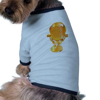 Micrófono del oro ropa para mascota