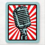 Micrófono del vintage de Shure 55S Tapete De Ratones