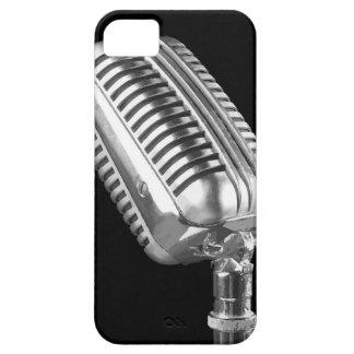 Micrófono del vintage iPhone 5 Case-Mate cárcasas