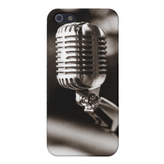 Micrófono del vintage iPhone 5 funda