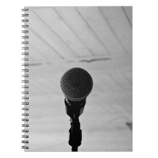 Micrófono Libro De Apuntes Con Espiral
