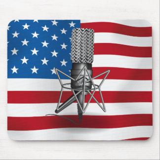 Micrófono los E.E.U.U. Alfombrilla De Ratón