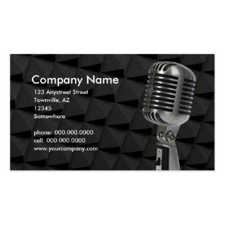 micrófono retro tarjeta de negocio