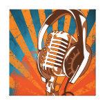 Micrófono urbano lienzo envuelto para galerias
