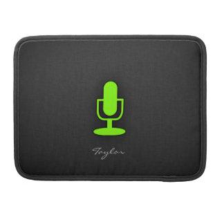 Micrófono verde chartreuse, de neón fundas macbook pro