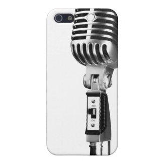 Micrófono viejo de Skool iPhone 5 Carcasas