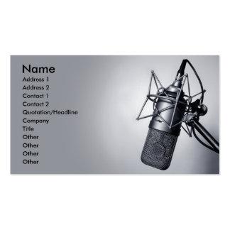 micrófono viejo del estudio tarjetas de visita
