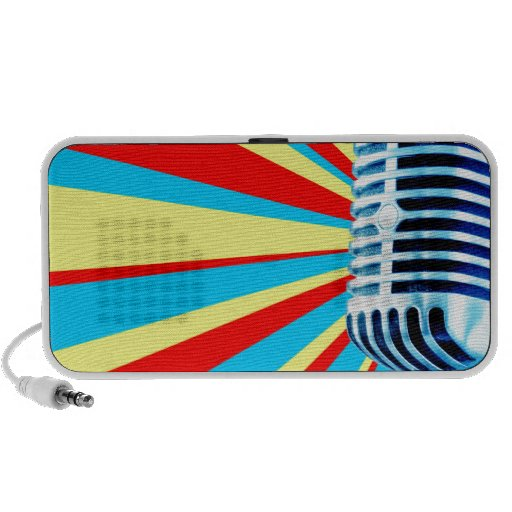 Micrófono vocal con Starburst colorido Mp3 Altavoces