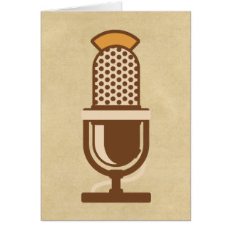 Micrófono vocal del artista tarjetón