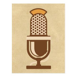 Micrófono vocal del artista postales
