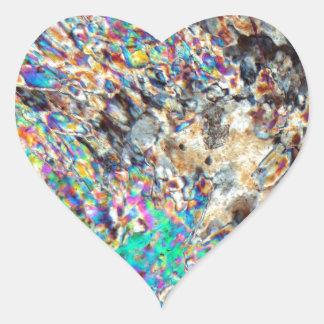 Micrográfo del alabastro pegatina en forma de corazón