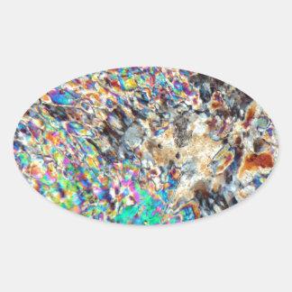 Micrográfo del alabastro pegatina ovalada