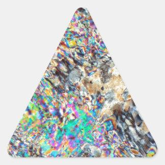 Micrográfo del alabastro pegatina triangular
