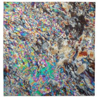 Micrográfo del alabastro servilleta imprimida