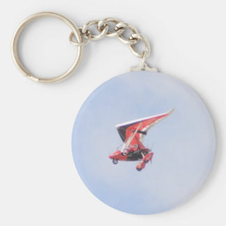 Microlight Airplane Basic Round Button Keychain