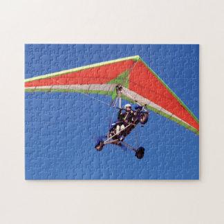 Microlight Flying In Sky, Western Cape Jigsaw Puzzle