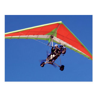 Microlight Flying In Sky, Western Cape Postcard