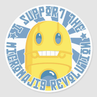 Micromajig Revolution Classic Round Sticker