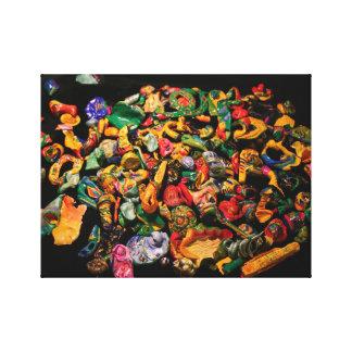 Micromanethiques Miniature Micro Sculpture Colors Canvas Print