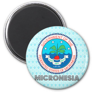 Micronesia Coat of Arms 2 Inch Round Magnet