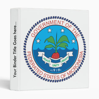 Micronesia Coat of Arms detail 3 Ring Binder