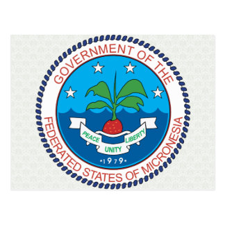 Micronesia Coat of Arms detail Postcard