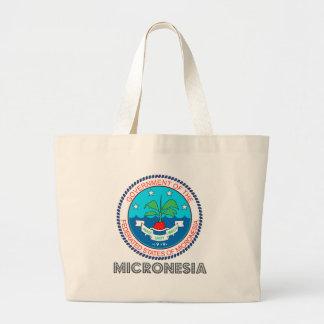 Micronesia Coat of Arms Jumbo Tote Bag