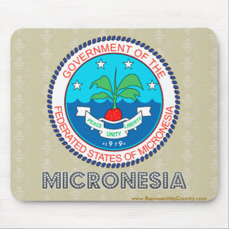 Micronesia Coat of Arms Mouse Pad