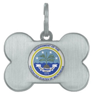 Micronesia Coat of Arms Pet Name Tag