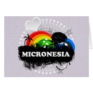 Micronesia con sabor a fruta linda tarjeta de felicitación