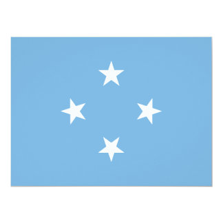 Micronesia Flag Card