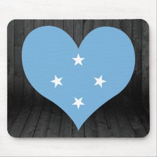 Micronesia flag colored mouse pad
