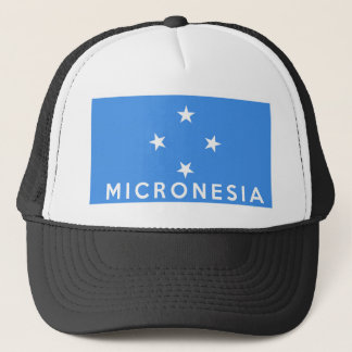 micronesia flag country text name trucker hat
