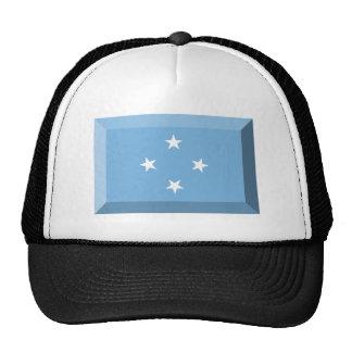 Micronesia Flag Jewel Trucker Hat