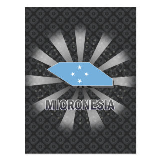 Micronesia Flag Map 2.0 Postcard