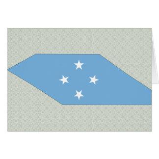Micronesia Flag Map full size Greeting Card