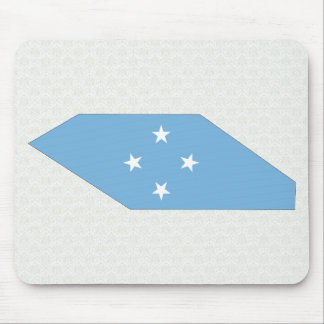 Micronesia Flag Map full size Mouse Pad