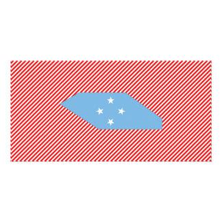 Micronesia Flag Map Photo Cards