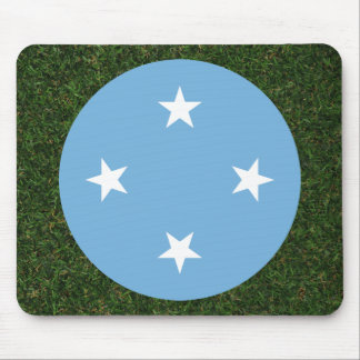 Micronesia Flag on Grass Mouse Pad