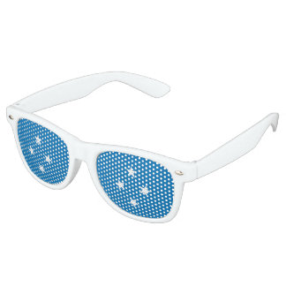 Micronesia Flag Retro Sunglasses