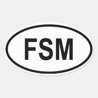 "Micronesia ""FSM"" Oval Sticker"