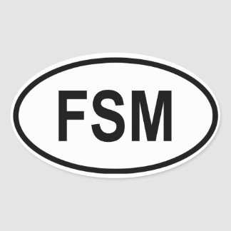 "Micronesia ""FSM "" Pegatina Ovalada"