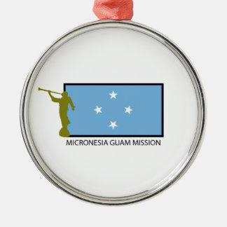 MICRONESIA GUAM MISSION CTR LDS METAL ORNAMENT