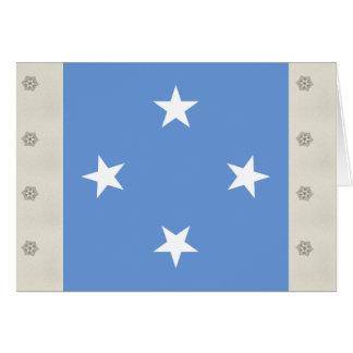 Micronesia High quality Flag Greeting Card