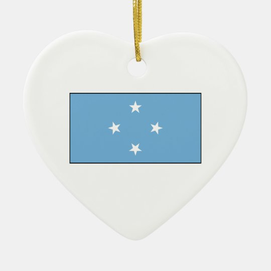 Micronesia – Micronesian Flag Ceramic Ornament